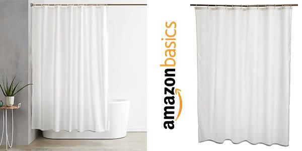 AmazonBasics cortina de ducha barata
