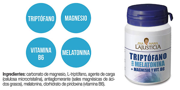 Ana María Lajusticia triptófano melatonina y magnesio comprimidos oferta