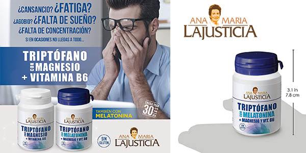 Ana María Lajusticia triptófano con melatonina, magnesio y vitamina B6 chollo