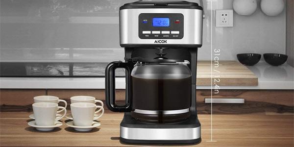 Cafetera de goteo Aicok programable con 900 W y 1,8 L oferta en Amazon