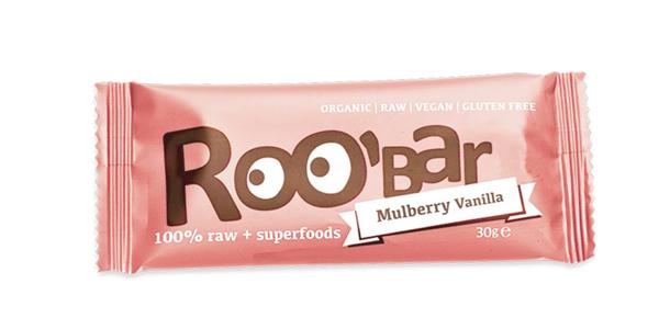 Pack x20 barritas energéticas veganas Roobar Mora blanca y vainilla 100% ecológica chollo en Amazon