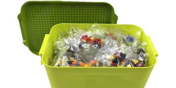 Caja para guardar piezas de LEGO en AliExpress