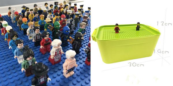 Caja para guardar piezas de LEGO barata