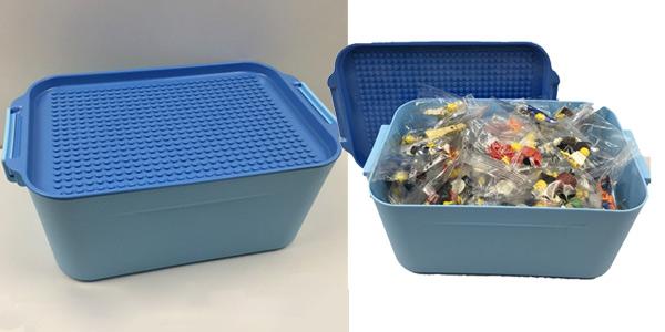 Caja para guardar piezas de LEGO barata en AliExpress