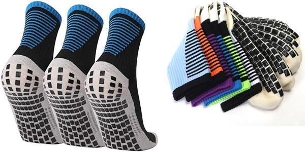 Pack x3 pares calcetines deportivos antideslizantes Lixada chollo en Amazon