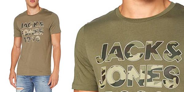 Camiseta de manga corta Jack & Jones Jjcamoman para hombre barata en Amazon