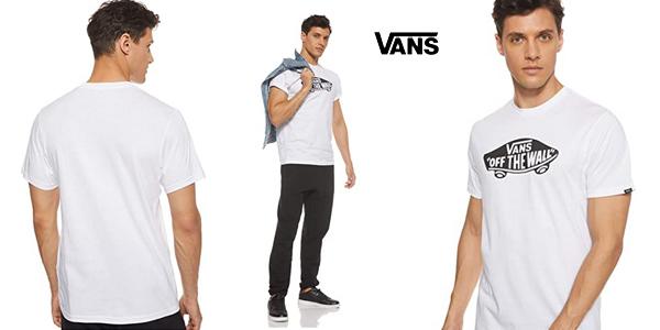 Camiseta de manga corta Vans Off The Wall OTW para hombre barata en Amazon