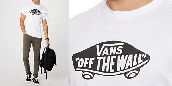 Camiseta de manga corta Vans Off The Wall OTW para hombre chollazo en Amazon