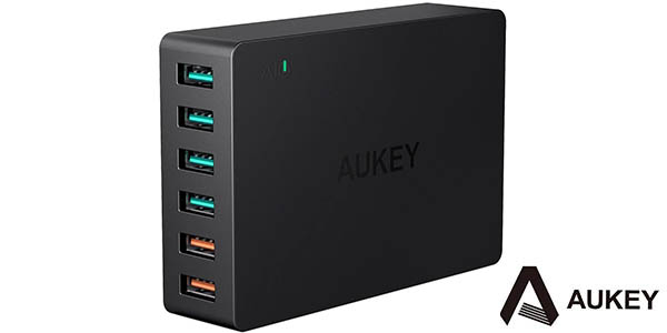 Cargador USB AUKEY 60W Quick Charge 3.0