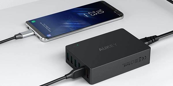 Cargador USB AUKEY 60W Quick Charge 3.0 en Amazon