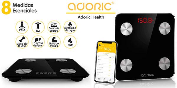 Chollo Báscula de composición corporal Adoric con Bluetooth por