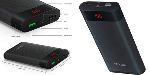 Chollo Batería externa Foxonu de 26.800 mAh con carga rápida