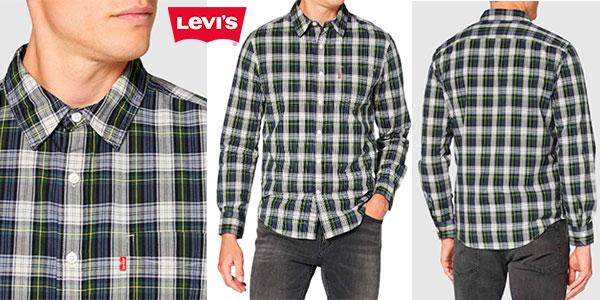 Chollo Camisa Levi's estampada de cuadros para hombre
