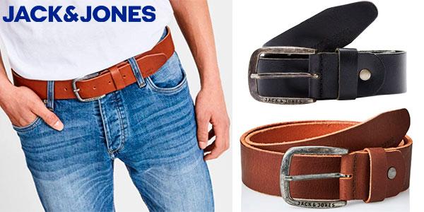 Chollo Cinturón de piel Jack & Jones Jjipaul para hombre