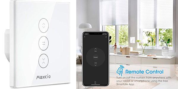 Chollo Interruptor de persiana LED Maxcio compatible con Alexa