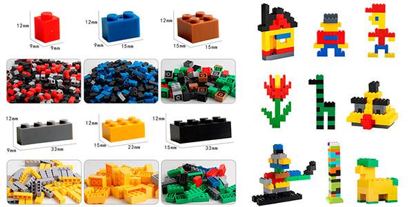 Lote de 1.000 piezas de tipo LEGO