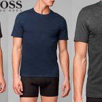 Chollo Pack de 3 camisetas Hugo Boss para hombre
