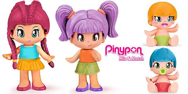 Chollo Pack de 4 figuras Pinypon Mix & Match