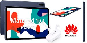 "Chollo Tablet Huawei MatePad 10.4"" 4 GB RAM 64 GB ROM + Auriculares Freebuds 3i"