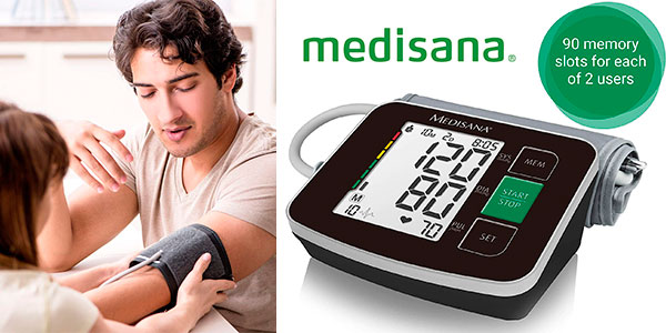 Chollo Tensiómetro de brazo Medisana BU516 con detección de arritmias