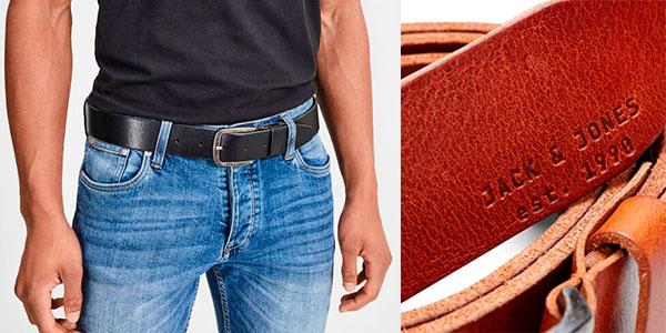 Cinturón de piel Jack & Jones Jjipaul para hombre barato