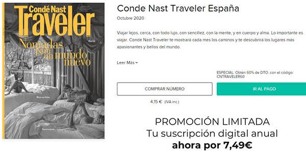 Condé Nast Traveler cupón descuento suscripción anual