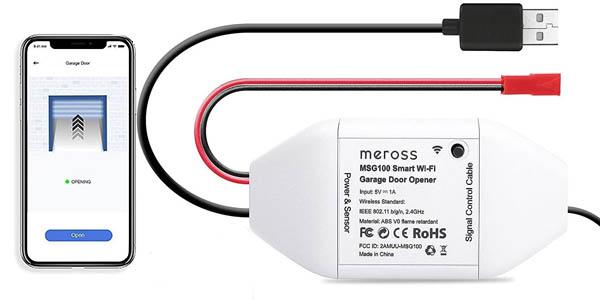 Controlador WiFi para puerta de garaje Meross