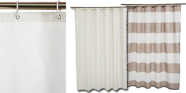 cortina de ducha poliéster AmazonBasics calidad a precio de chollo