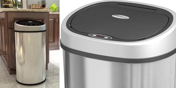 Cubo de Basura sin contacto con sensor automático 1home de 50 litros barato en Amazon