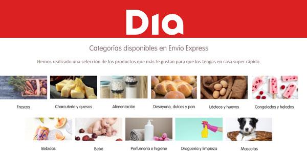10% de descuento en DIA con envíos express y pago con Paypal en dia.es