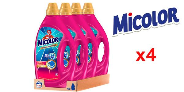 Pack x4 Detergente Gel Micolor Frescor Duradero de 120 lavados barato en Amazon