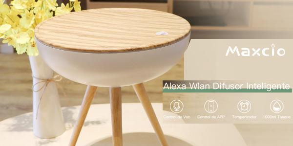 Difusor Aromaterapia WiFi Alexa Maxcio diseño nórdico barato en Amazon