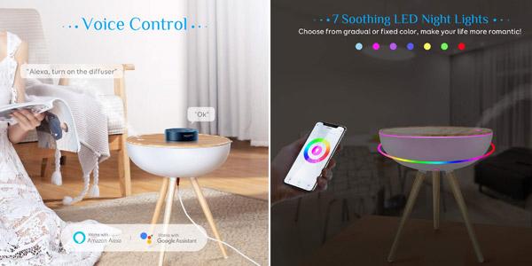Difusor Aromaterapia WiFi Alexa Maxcio diseño nórdico oferta en Amazon