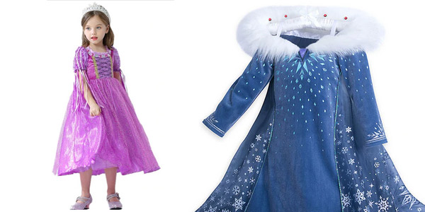 Disfraces de princesas Disney chollo en AliExpress