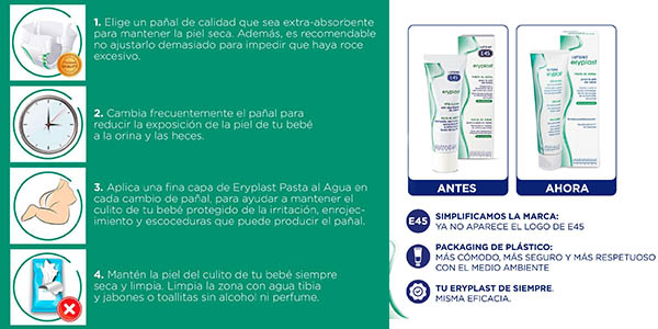 Lutsine Eryplast E45 pasta de agua antirrozaduras pack ahorro