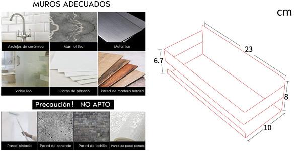 Estante de baño autoadhesivo Zunto de acero inoxidable oferta en Amazon