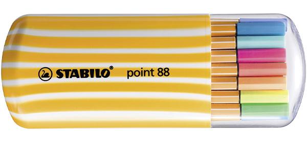 Pack x20 Rotuladores de colores Stabilo Zebrui con punta fina baratos en Amazon