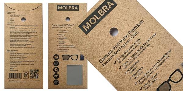 Gamuza Premium Microfibra Anti-Vaho Molbra oferta en Amazon