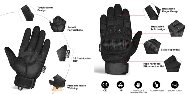 Guantes antideslizantes para Moto Unigear con sensor táctil oferta en Amazon