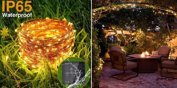 Guirnalda Solar con 120 Luces LED Hepside para exterior chollo en Amazon