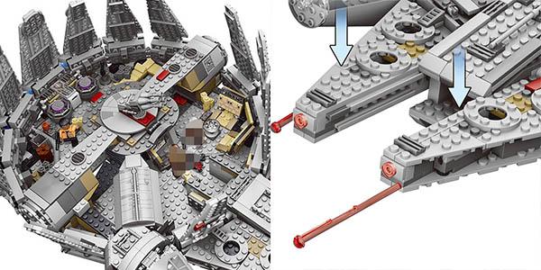 Halcón Milenario tipo LEGO barato