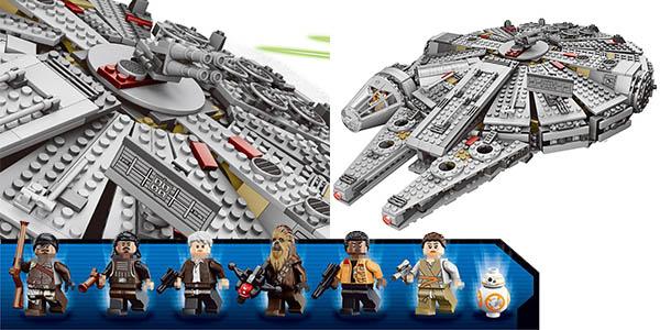 Halcón Milenario de Star Wars estilo LEGO