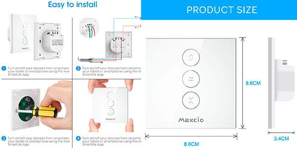 Interruptor de persiana LED Maxcio compatible con Alexa barato