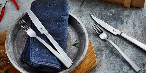 Set 12 piezas Juego de cubiertos Zwilling Steak de acero inoxidable oferta en Amazon