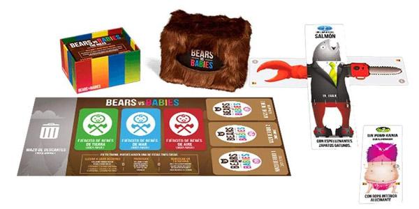 Juego de cartas Bears vs Babies de Asmodee chollo en Amazon