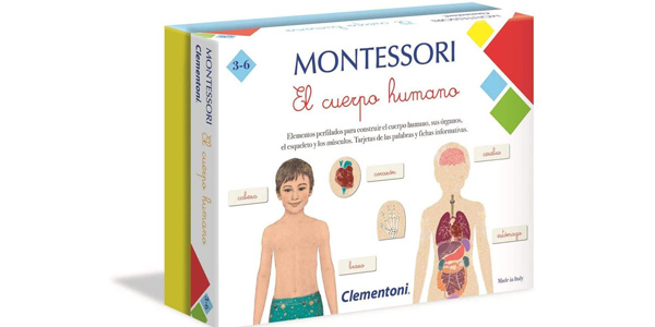 Juego educativo Montessori El Cuerpo Humano de Clementoni barato en Amazon