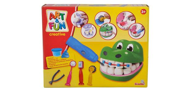 Juego dentista de amasar plastilina con moldes diseño cocodrilo Art and Fun barato en Amazon