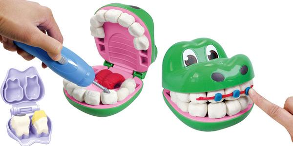 Juego dentista de amasar plastilina con moldes diseño cocodrilo Art and Fun chollo en Amazon