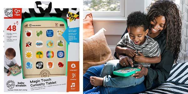 Baby Einstein Magic TouchTableta táctil madera chollo en Amazon