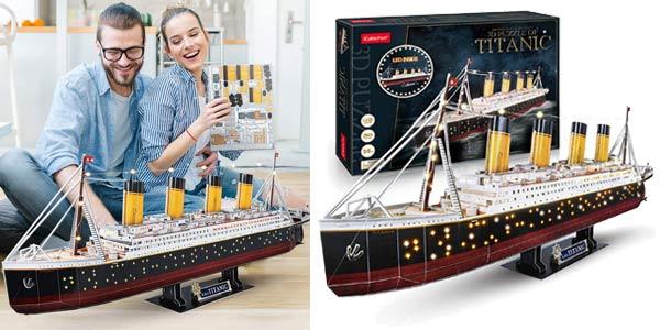 Comprar Puzle 3D LED Titanic CubicFun barato en Amazon